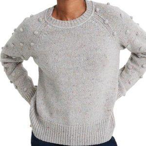 Madewell Palmroy Bobble-Sleeve Sweater, size Small